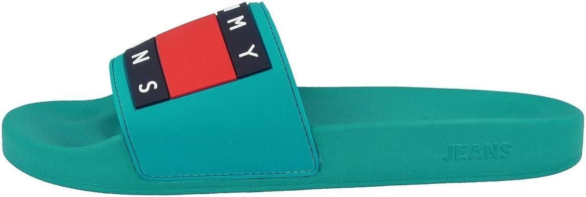 """Ciabatte da piscina da uomo /""""Pool slide/"""" di Tommy Jeans Tommy Hilfiger con logo con bandiera"""
