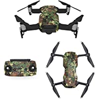 Waterproof Stickers Decal for Drone DJI Mavic Air Kit - Includes Drone Skin, Remote Controller Skin and Battery Skins (MC03)