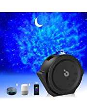 Star Projector, 3 in 1 Galaxy Projector with Nebula, Moon, Ocean Wave Projector with Bluetooth Speaker, Night Light Projector with Smart Control, Timer,Touch,Voice Control, Projector Lights for Bedroom
