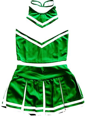 Little Girls' Cheerleader Cheerleading Outfit Uniform Costume Cosplay X-Small 7/10