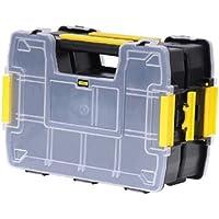 Stanley Sortmaster Doppelorganizer Werkzeugbox leer STST1-71197   Stapelbarer Werkzeugkasten mit entnehmbare Einsätzen & kombinierbar mit bis zu zwei weiteren Organizern