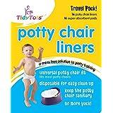 TidyTots Disposable Potty Chair Liners - Travel Pack - Fits All Potty Chairs - 16 Liners and 16 Super-absorbent Pads // TidyTots - Sacs jetables pour pot pour bébé - Pack de voyage - conviennent à la plupart des pots - 16 sacs et 16 lingettes super-absorbante