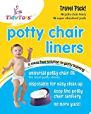 Tidy Tots Disposable Potty Chair Liners - Travel Pack - 16 Liners and 16 Super-absorbent Pads