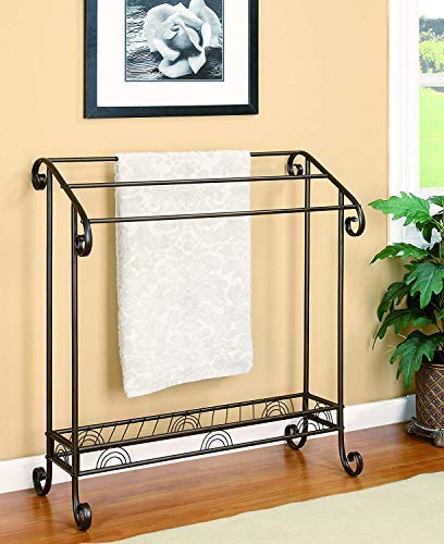 Amazing Buys 3 Tier Towel Rack in A Dark Bronze Finish