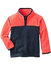 OshKosh B'Gosh Boy's Quarter Zip Color-block Fleece Jacket