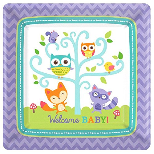 Woodland Welcome Square Plates, 7