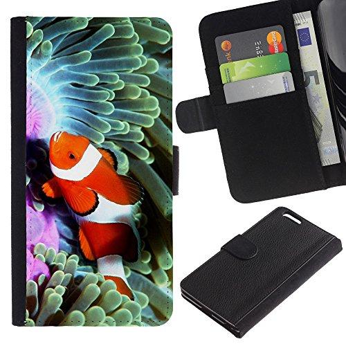 KOKO CASE / Apple Iphone 6 Plus 5.5 / le clown effrayant art effrayant dessin chapeau nez / Mince Noir plastique couverture Shell Armure Coque Coq Cas Etui Housse Case Cover