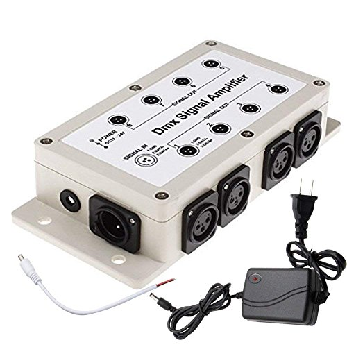 - Bluewo LED-8-SIGNAL LED Signal Amplifier Splitter Distributor (1 Way in 8-Channel Output)
