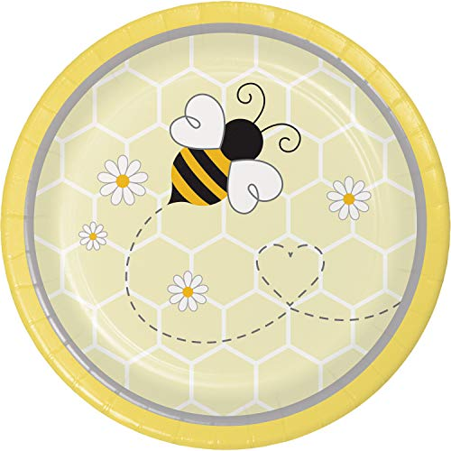 Bumblebee Baby Shower Dessert Plates, 24 ct (Bumble Bee Plates)