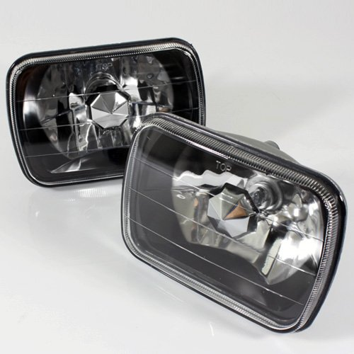 - ModifyStreet 7x6 H6014/H6052/H6054 Black Crystal Headlights Lamps Conversion