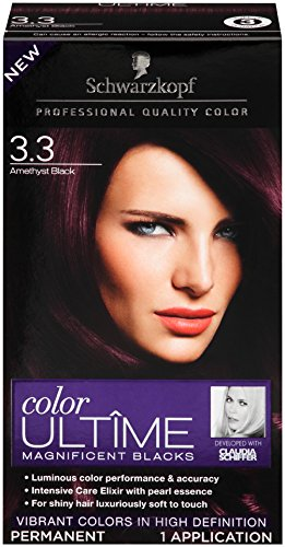 5bb4045a68e36 Amazon.com: Schwarzkopf Color Ultime Hair Color Cream, 3.3 Amethyst Black  (Packaging May Vary): Beauty