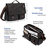 Messenger Bag for Men,Water Resistant Canvas