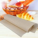Money coming shop 2 pcs Reusable 60*40cm Fiberglass Cloth Non-Stick Mat Multifunctional BBQ Mat Nonstick Baking Sheet