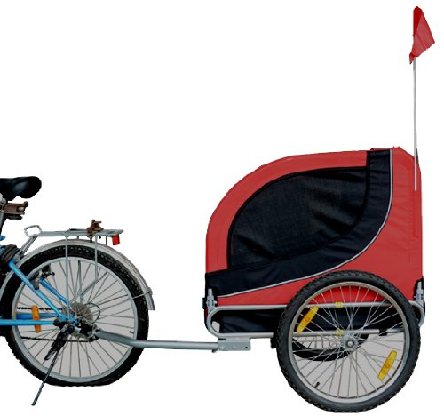 MDOG2 MK0001 Comfy Pet Bike Trailer, Red/Black