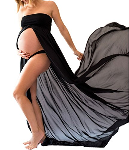 D-Pink - Vestido - Noche - Sin mangas - para mujer negro