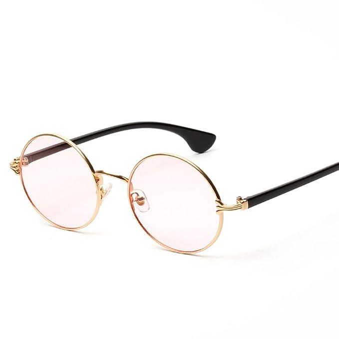 Sharplace Eyewear Occhiali Da Sole Oceaniche Lente Occhiali Rotondi da Spiaggia per Donna Ragazze - Rosa, Taglia uncia