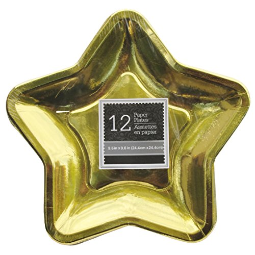 star-shaped-96-inch-foil-paper-party-plates-set-of-24-gold