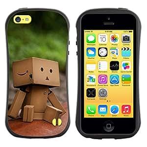Pulsar iFace Series Tpu silicona Carcasa Funda Case para Apple iPhone 5C , Cute Paper Box Man