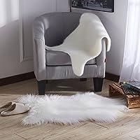 Ottomanson Flokati Long Pile Sheepskin Rug, 2 X 33, White