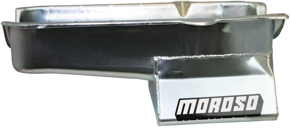 Moroso 20205 8.25 Oil Pan for Chevy Small-Block Engines with Passenger-Side Dipstick