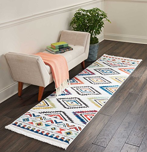 Nourison TRL06 Tribal Décor Traditional Colorful Area Rug, 2'2