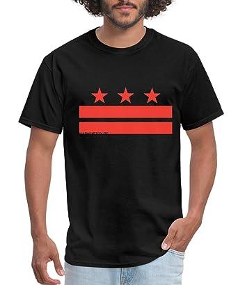4a41817b78fd Amazon.com: Spreadshirt Washington DC Flag Men's T-Shirt: Clothing
