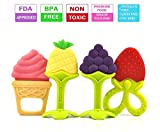Baby Silicone Teething Toys,Soft Sensory BPA Free Natural Silicone Teethers Toy Molar Teeth...