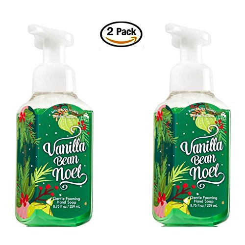 (Bath & Body Works Vanilla Bean Noel Hand Soap - Pack of 2 Gentle Foaming Holiday Hand Soaps Limited Edition for 2016)