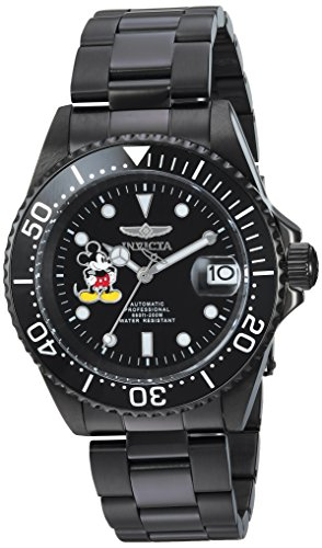 - Invicta Men's Disney Limited Edition Automatic-self-Wind Watch with Stainless-Steel Strap, Black, 20 (Model: 24416)