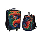 Obersee Kids Luggage and Backpack Set with Integrated Cooler, Tie Dye