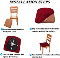 Amazon Smiry Stretch Spandex Jacquard Dining Room Chair Seat