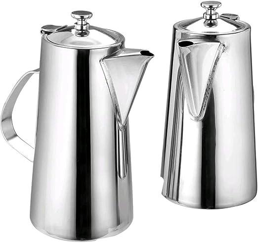 JIANGU Cafetera grande de acero inoxidable Caldera fría Tetera ...