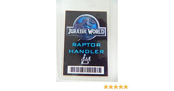 Jurassic World Raptor Handler Novelty ID Badge Prop Costume