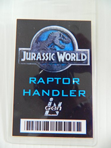HALLOWEEN COSTUME MOVIE PROP - ID Security Badge (Raptor Handler)