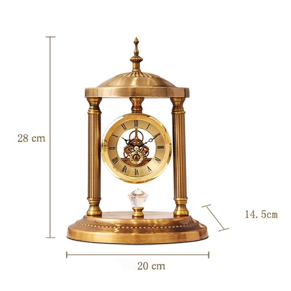 MQW Ambiente Lujoso Salón Europeo Retro Reloj De Metal Sala De ...