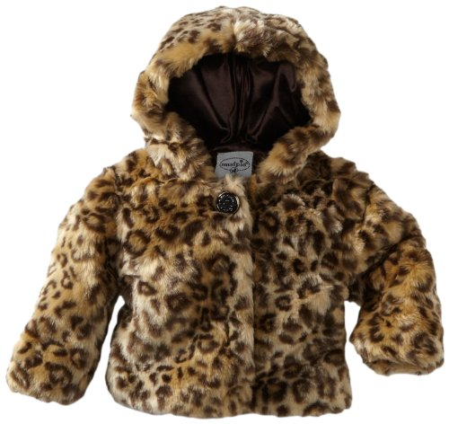 Baby Girls' Leopard Faux Fur  0 6 Months