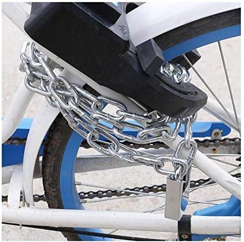 Candado antirrobo de Bicicleta, Bicicleta de montaña, candado de Cadena, candado de Cadena y candado de Cadena Largo, candado de Coche eléctrico, candado motorizado@Cadena de 1 Metro + Cerradura Ant: Amazon.es: Hogar