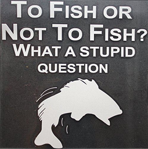 Toddler Harley Davidson Kit (TO FISH OR NOT TO FISH: WHAT A STUPID QUESTION REFLECTIVE CAR / TRUCK / DECAL STICKER WITH ALCOHOL PAD ~ Size 6.75