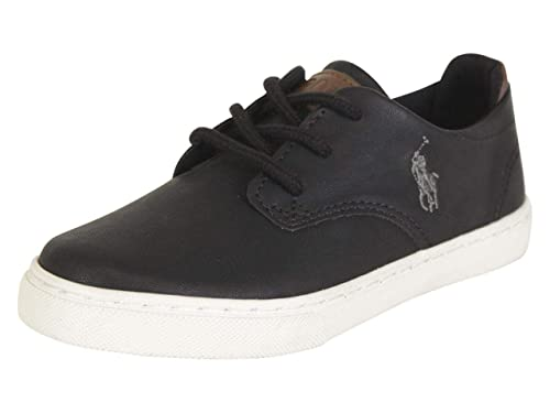 Polo Ralph Lauren Little/Big Boys s Thurston Zapatillas, Negro ...