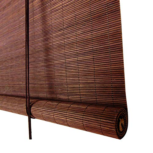 WENZHE Roller Blind Bamboo Curtain Blinds Waterproof Mildew Proof Outdoor Indoor Home Balcony Cut Off, Internal/External Installation, 4 Colors, Size Customizable (Color : 1#, Size : 120x180cm) (Curtain Bamboo Outdoor)