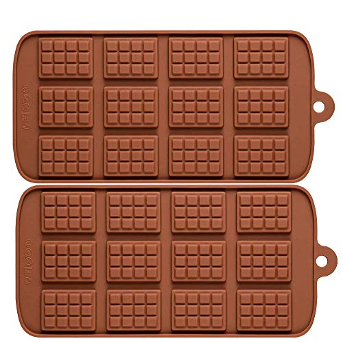 (2 pack X Thin Mini Waffle Mold Chocolate DIY Tray Mould Silicone Party maker (Ships From USA))