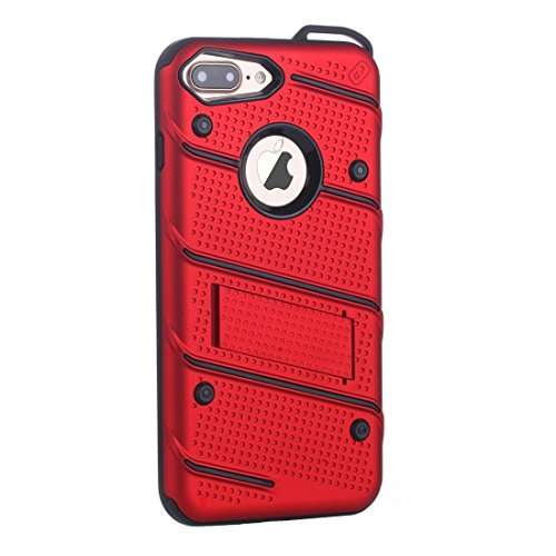 MXNET IPhone 7 Plus Case, Charm Knight Abnehmbare PC + TPU Kombination Schutzhülle mit Halter CASE FÜR IPHONE 7 PLUS ( Color : Red )