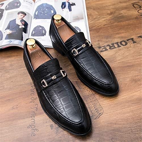 Scarpe Oxford uomo Wear Dimensione traspirante Pelle da moda da Uomo Abbigliamento EU Bianca inglese Nero 41 lavoro casual stile Color Scarpe EqwtxpWWXn