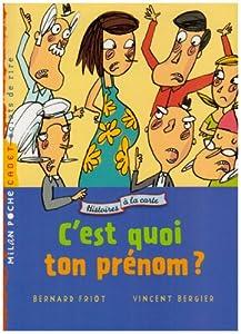 """Afficher """"Histoires à la carte C'est quoi ton prénom ?"""""""