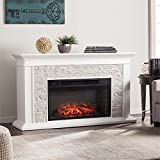 Southern Enterprises Canyon Heights Faux Stone Electric Fireplace For Sale