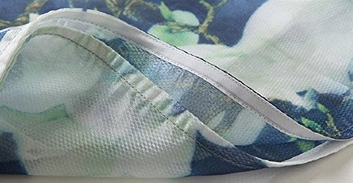 Loose Ms Eugen Dress Bobbycool Collar Cheongsam Printing Vintage Yarn Multi awvxwqRI