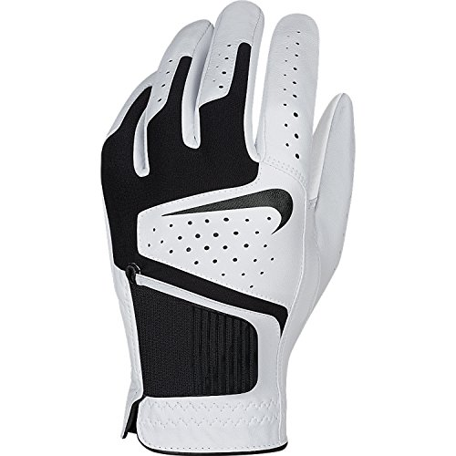 Nike GG0471 101 Dri-Fit Tech Cadet Golf Glove, Medium, White/Black/Anthracite