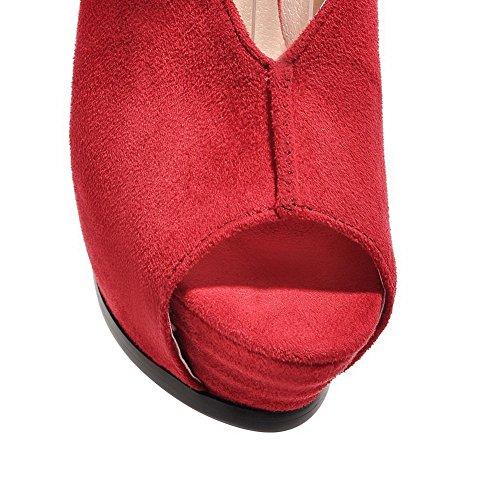 1TO9 - Sandalias de vestir para mujer Rojo