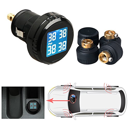 Universal Car TPMS Tire Tyre Pressure Monitor System with...