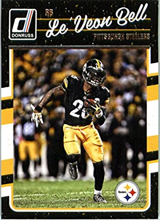 7365f1bca Amazon.com  2016 Donruss  237 Le Veon Bell Pittsburgh Steelers Football  Card in Protective Screwdown Display Case  Collectibles   Fine Art